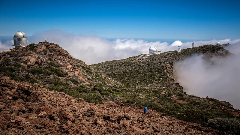 Observatorio astronómico del Roque de los Muchachos, ubicado en la isla de La Palma.