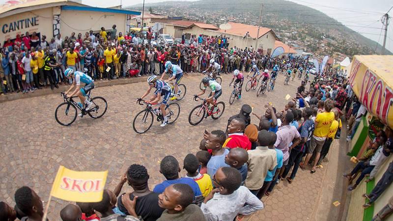 Imagen del Tour de Ruanda, la prueba ciclista más importante del país.