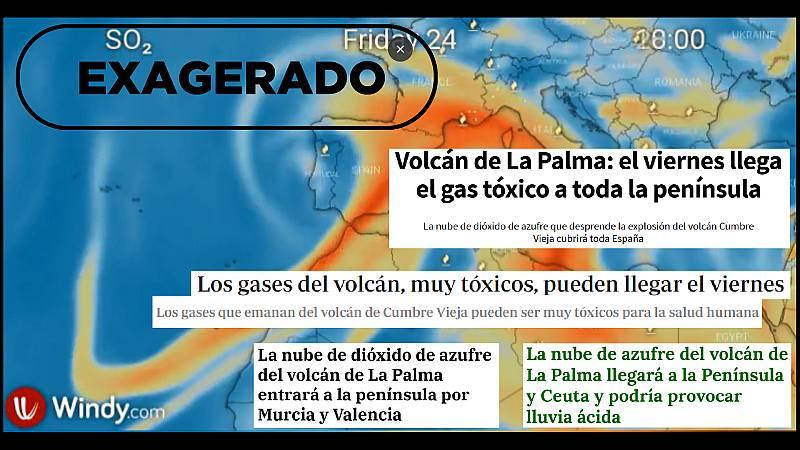 Mensajes alarmistas que anuncian la llegada de la nube de gas tóxico a la Península