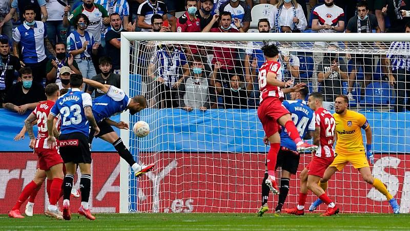 Laguardia anota el 1-0 al Atlético