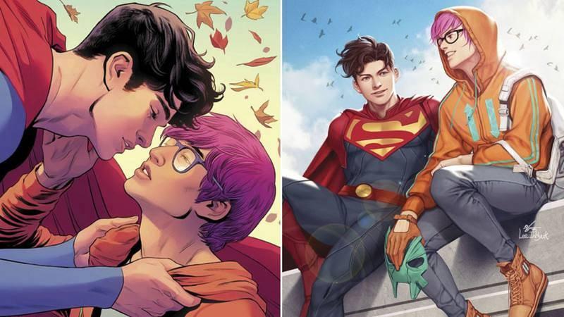 Jon Kent -Superman- junto a su nuevo novio Jay Nakamura