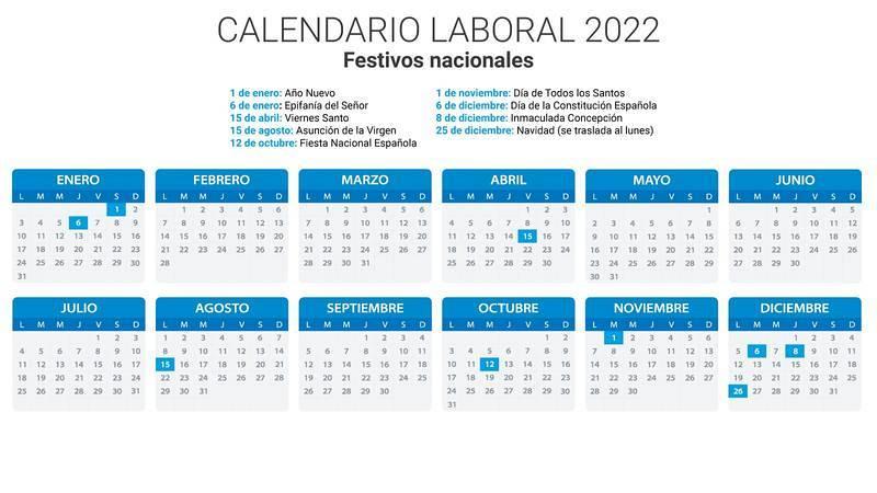 Calendario laboral 2022
