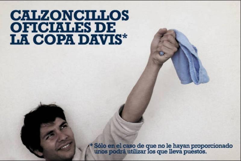 Calzoncillos oficiales de la Copa Davis.