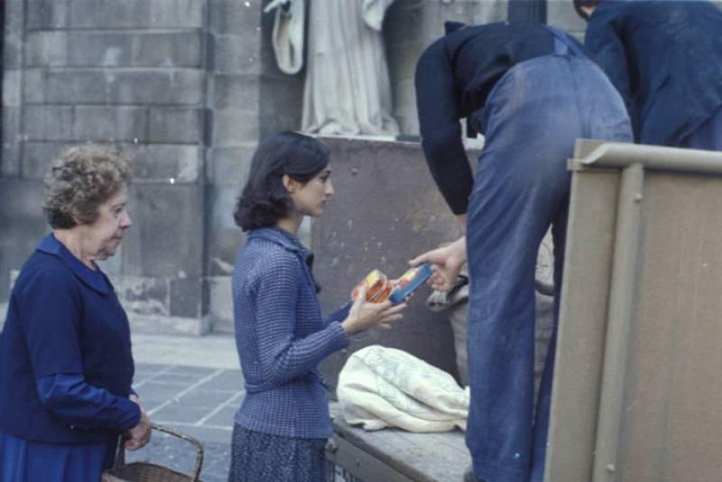 Silvia Munt, Colometa, en una de las escenas de la película y serie de televisión