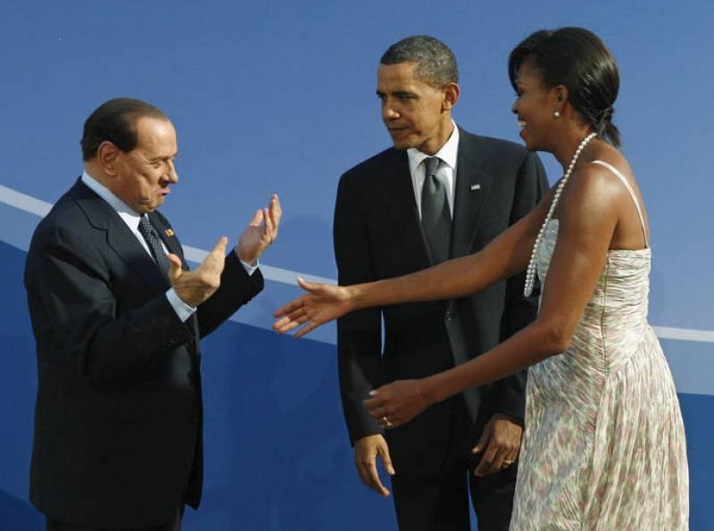 Berlusconi Michelle Obama