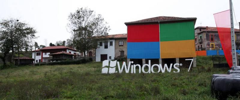 Microsoft ha elegido para el lanzamiento de su nuevo Windows 7 a un pequeño pueblo de 40 habitantes en Asturias que se llama Sietes