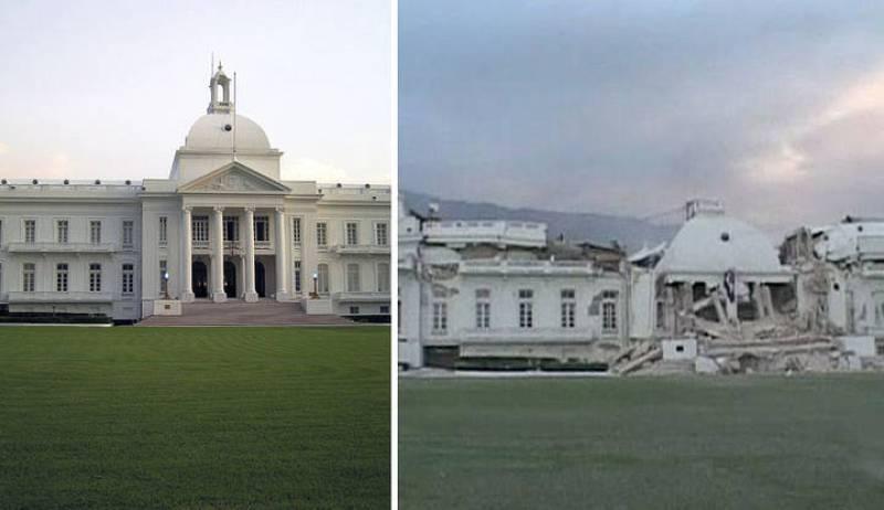 La parte central del Palacio Presidencial ha quedado ccompletamente destruída.
