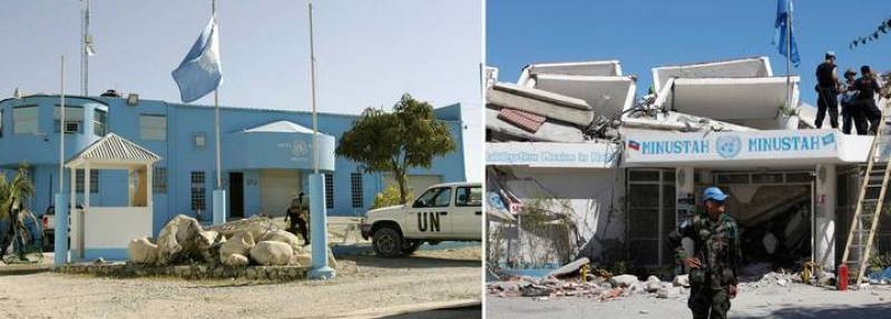 El cuartel general de la Misión de Paz de la ONU en Haití ha quedado destrozado tras el terremoto