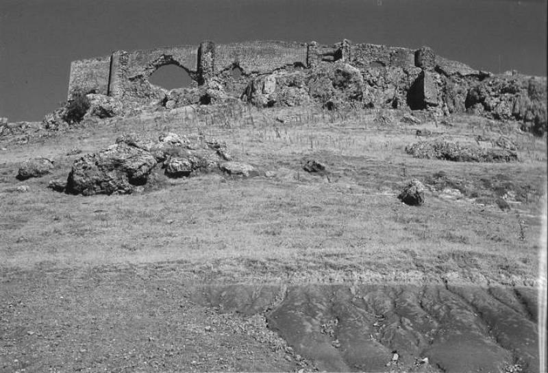 Restos de el castillo de la Estrella, también conocido como el castillo de Montiel