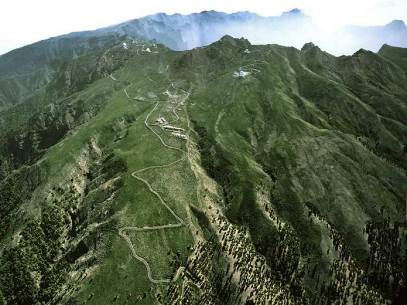 Prueba de ubicación en el observatorio del Roque de los Muchachos, en la isla canaria de La Palma.