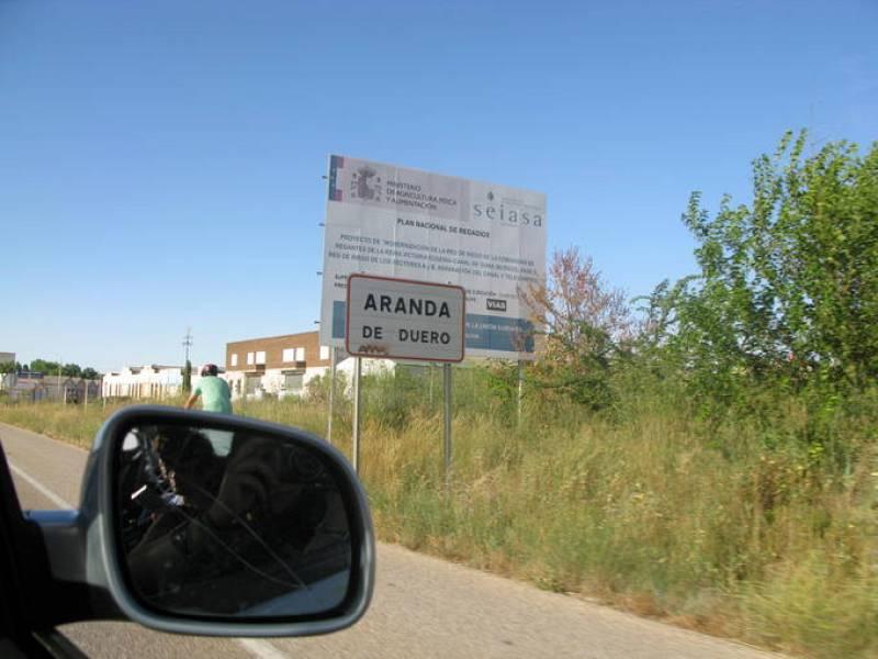 Llegamos a Aranda de Duero el jueves 12 de agosto...