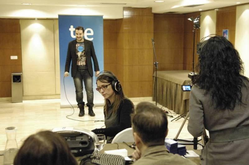 David Velardo, corista de Daniel Diges en Eurovisión 2010, también ha probado suerte en el casting