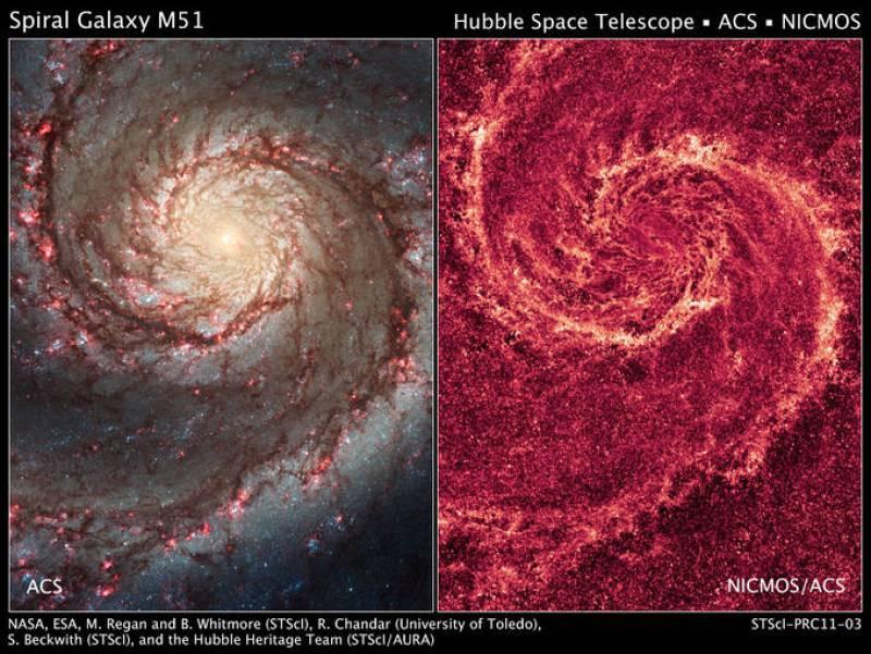 La Galaxia del Remolino es una de las más conocidas del Universo. Sus espectaculares brazos en forma de espiral dominan el cielo a unos 31 millones de años luz. Es tan brillante que en ocasiones puede observarse con prismáticos. Ahora el Hubble la h
