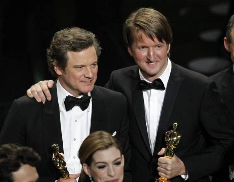 Colin Firth y Tom Hooper