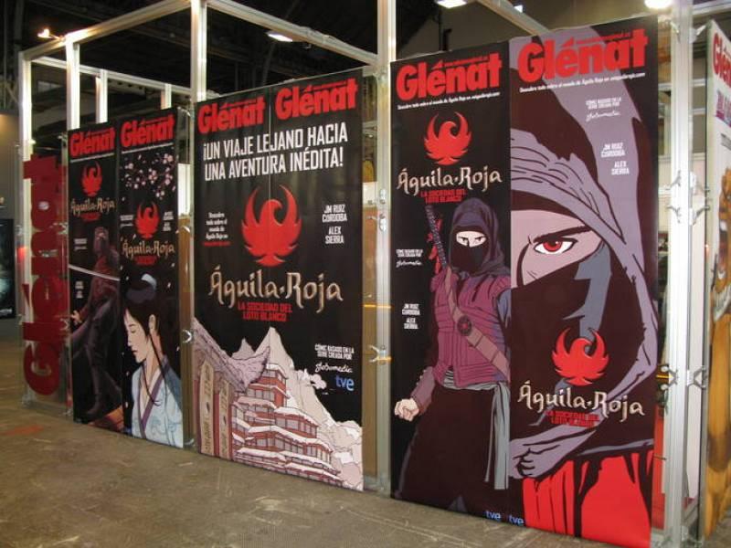 El stand de Glénat estaba dedicado a 'Aguila Roja'