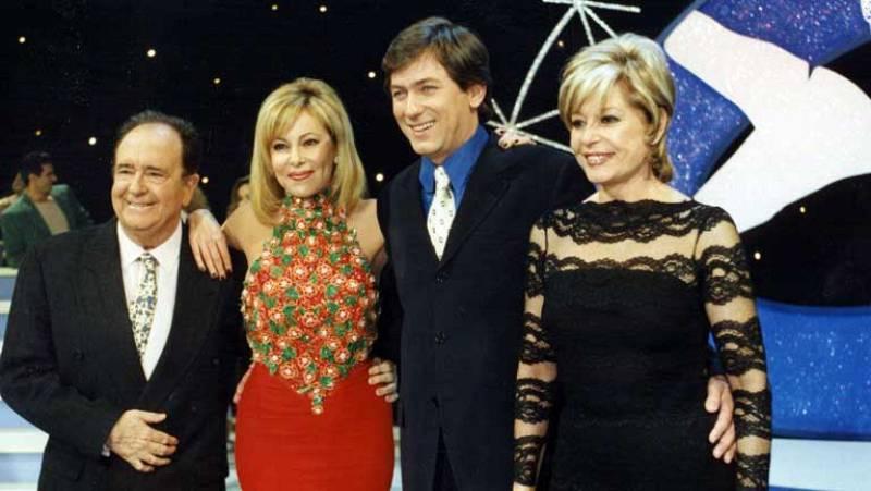 José Luis Uribarri con Ana Obregón, Pedro Rollán y Laura Valenzuela en TVE.