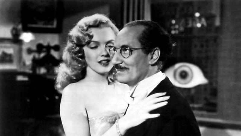 Marilyn Monroe y Groucho Marx en 'Amor en conserva'