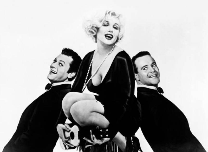 Tony Curtis, Marilyn Monroe y Jack lemmon en 'Con faldas y a lo loco'