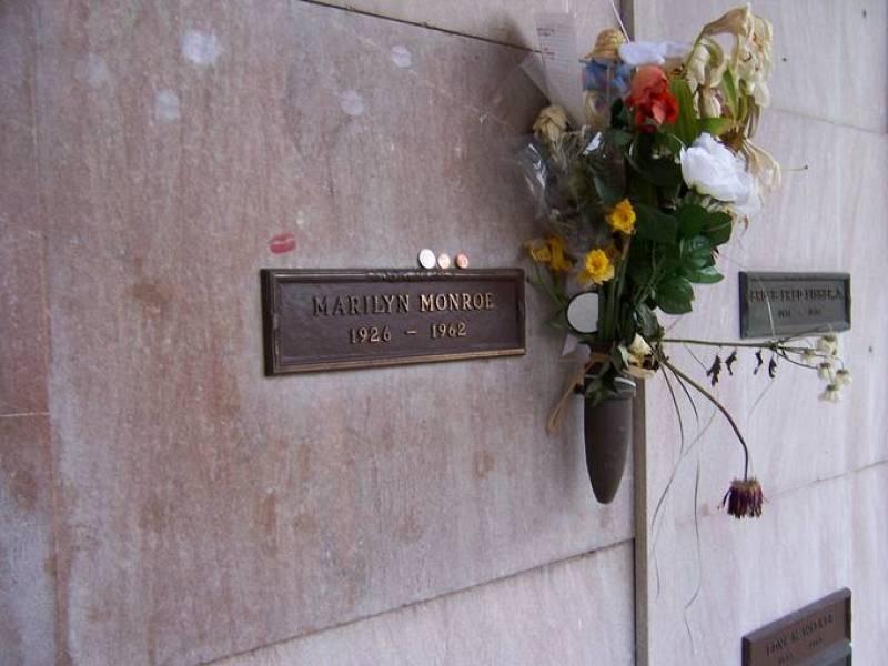 La tumba de Marilyn Monroe.
