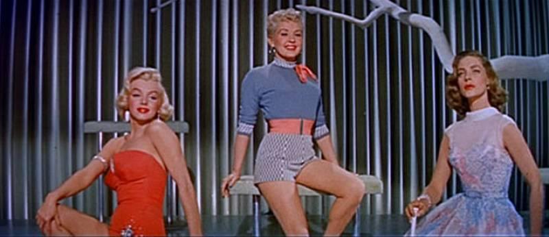 Fotograma de Marilyn Monroe, Betty Grable y Lauren Bacall en el trailer de la película 'Cómo casarse con un millonario', 1953.