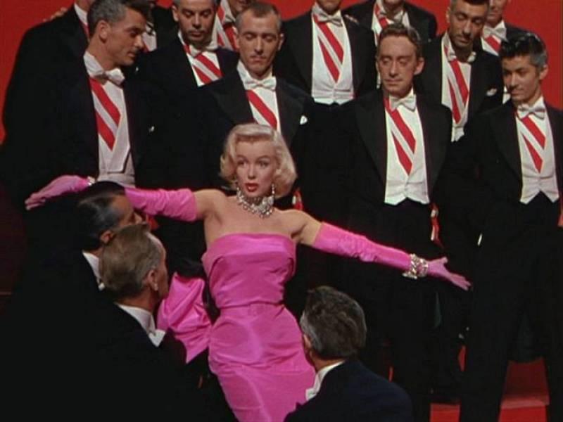 Fotograma de Marilyn Monroe en 'Los caballeros las prefieren rubias', 1953.