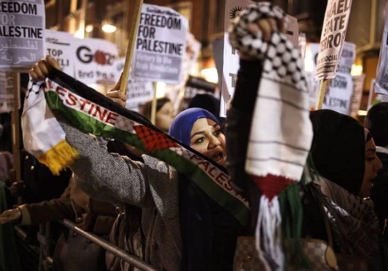 Marcha propalestinos en Londres