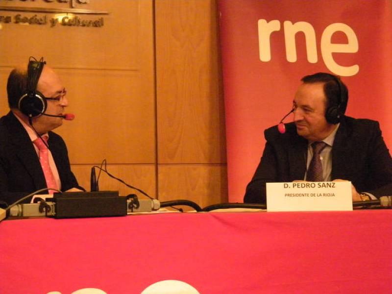 Manolo HH y el presidente de la Comunidad de La Rioja, Pedro Sanz.