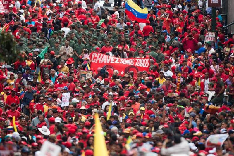 Manifestación Chávez 1