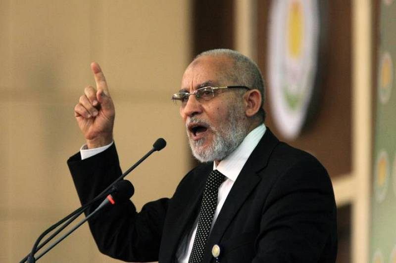 File picture shows Egyptian Islamic leader Badie in Khartoum
