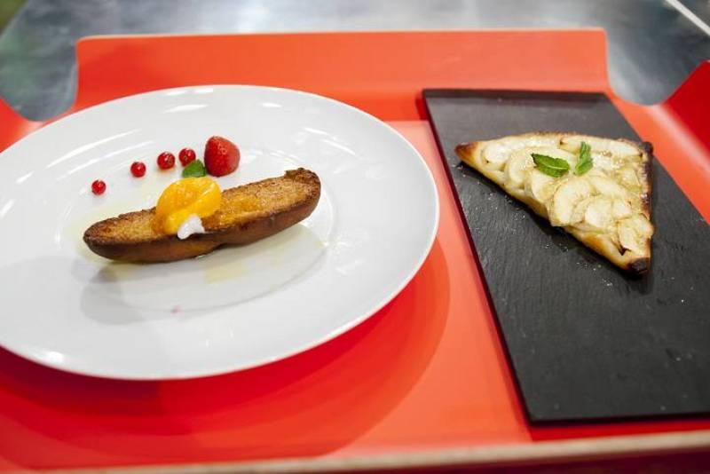 MasterChef Junior - Tarta de manzana y tostada con yema de huevo