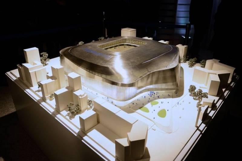 Imagen de la maqueta del proyecto para el nuevo Santiago Bernabéu.