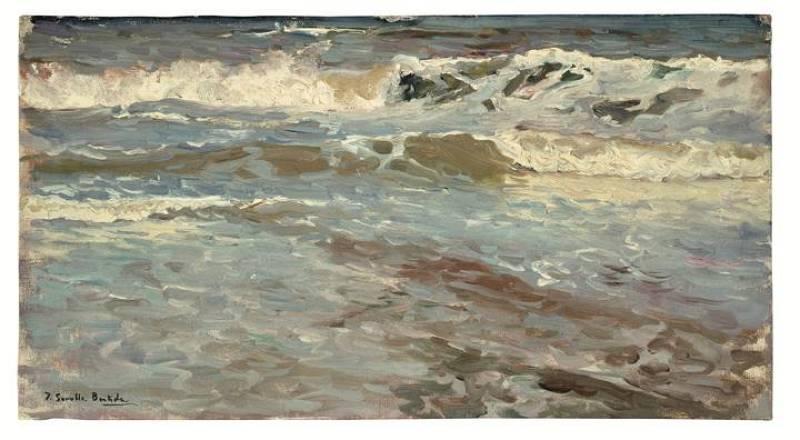 Joaquín Sorolla. Estudio de mar, Valencia (1904)