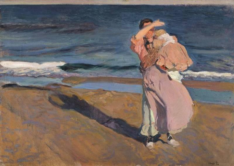 Pescadora con su hijo (1908)