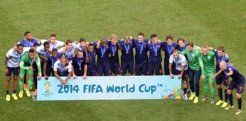 Holanda posa con su medalla de bronce