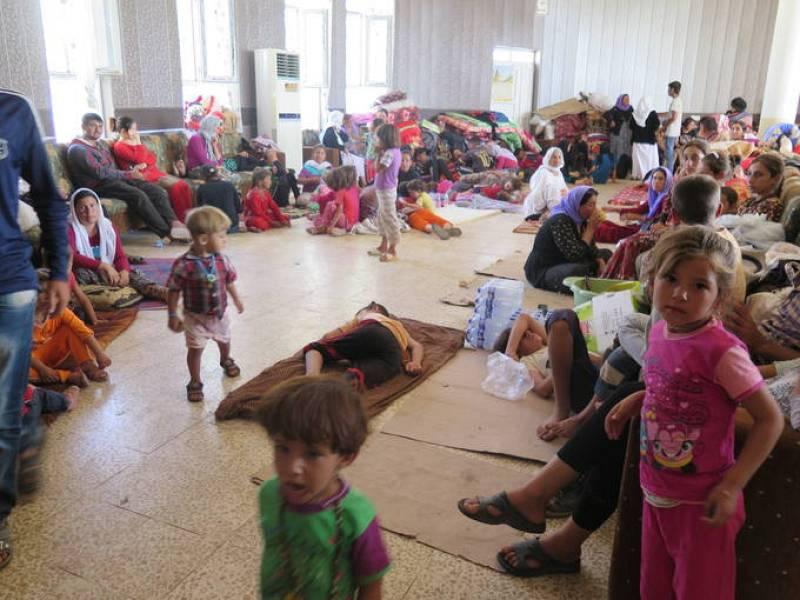 Refugiados que han huído del Estado Islámico en Janak, cerca de Dohuk