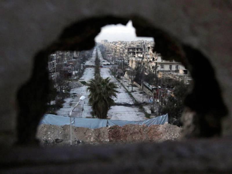 Vista general de la destrucción en la zona rebelde de Alepo.