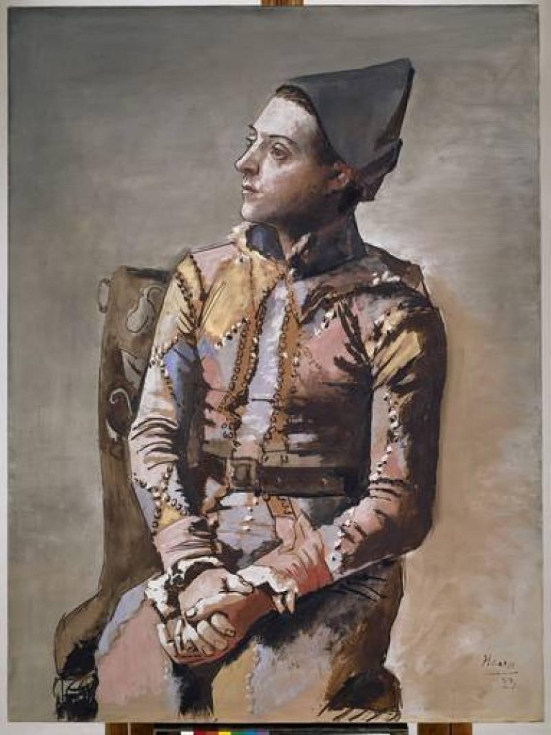 'Arlequín sentado o El pintor Jacinto Salvadó' (1923) Pablo Picasso. Kunstmuseum Basel.