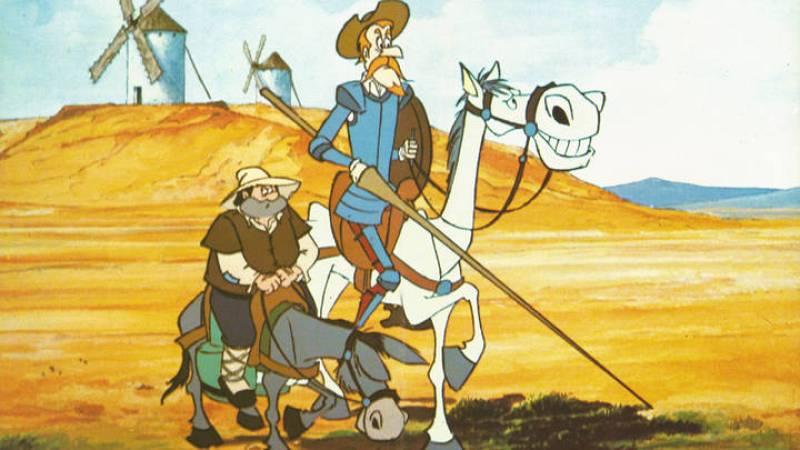 Don Quijote y Sancho, de la serie de Televisión Española de 1979