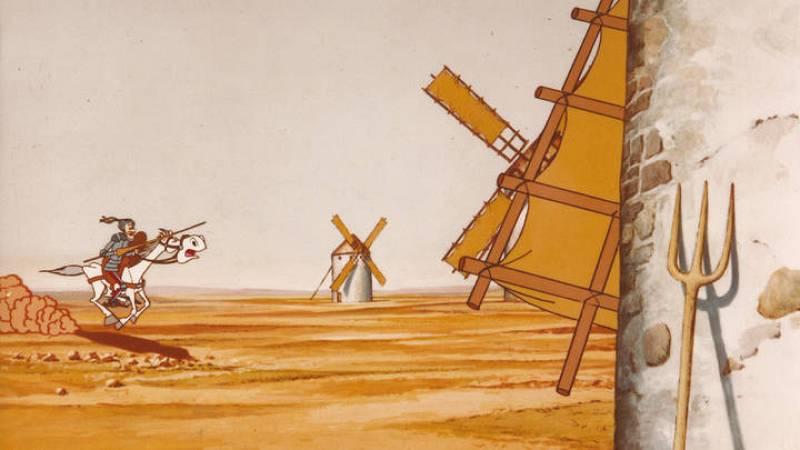 Don Quijote contra los molinos de viento