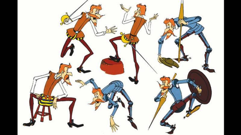 Estudios para el personaje de Don Quijote