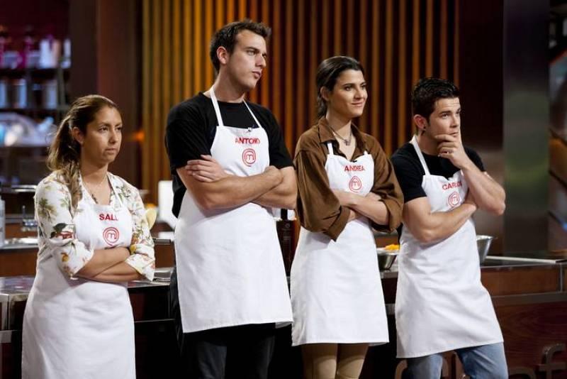 Andrea, Antonio, Carlos y Sally, uno será el nuevo MasterChef España