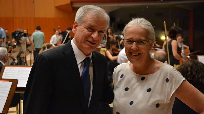 Belén Molinero, directora de la serie, y Pablo Miyar, compositor de la banda sonora