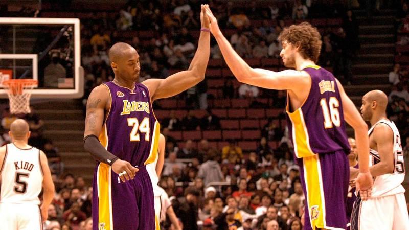Kobe y Pau han compartido 6 años en los Lakers