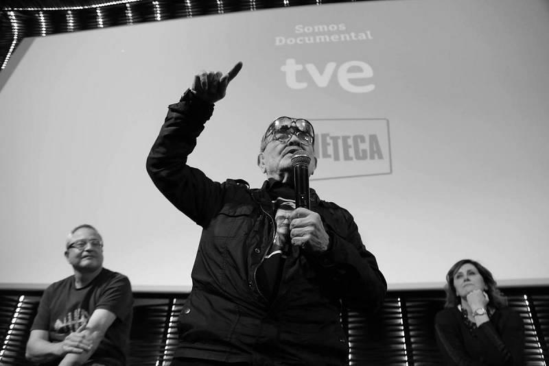 Fernando Arrabal, durante la presentación del documental sobre su vida y obra en Cineteca
