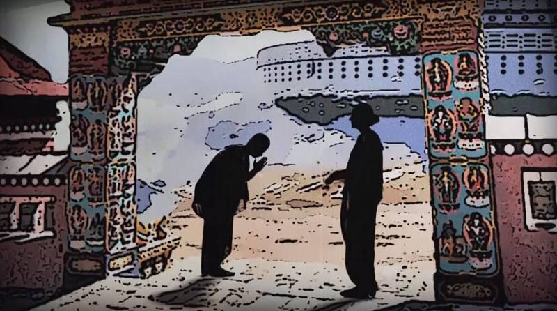 """Ilustración del caoítulo de Alexandra David Neel - """"Madame Tibet"""""""