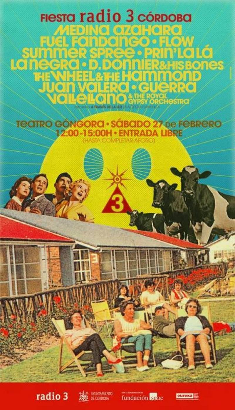 Cartelazo para la fiesta de Radio 3 en Córdoba