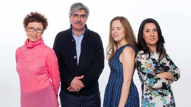 De izquierda a derecha, Ángeles Bandrés, Juan Fernández Vegue, Itziar Jiménez Berrón y Ana Vega Toscano.