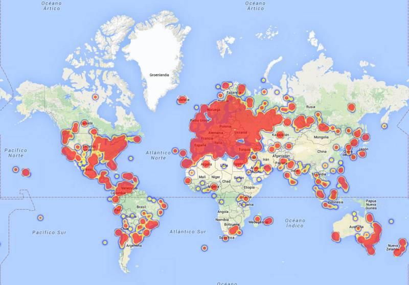 La conversación social sobre Eurovisión en el mapa