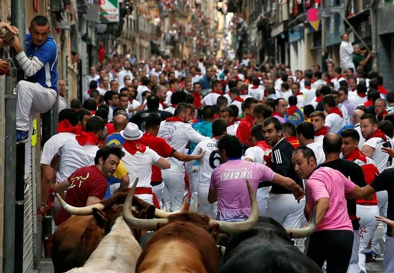 Los corredores han podido lucirse en este quinto encierro de San Fermín 2016