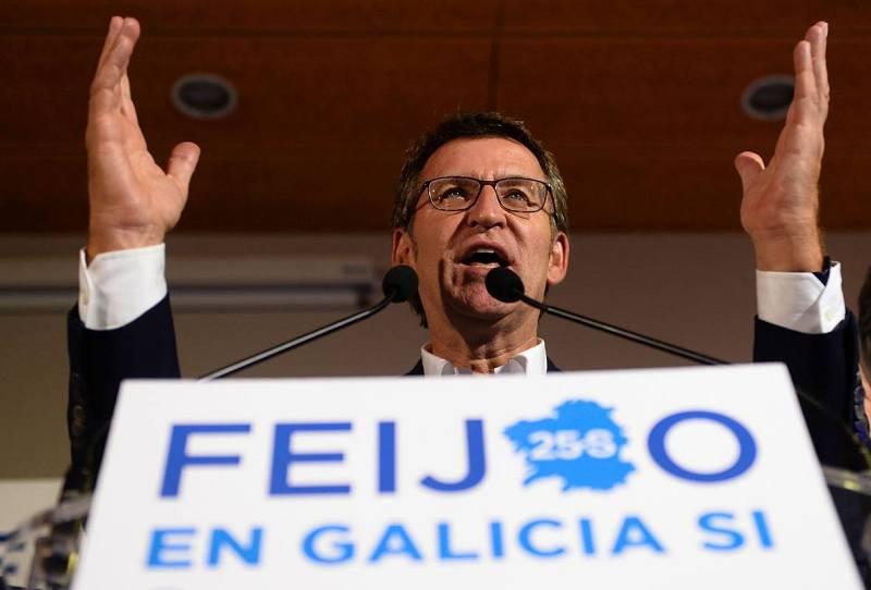 El presidente de la Xunta y candidato a la reelección, Alberto Nuñez Feijóo, valora el resutlado de las elecciones autonómicas
